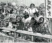 19th Century horse racing, Hong Kong, illustration