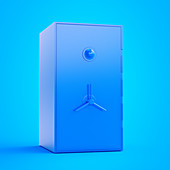 Illustration of a blue safe