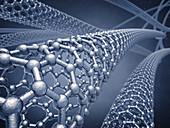 Graphene nanotubes, illustration