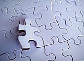 Blank jigsaw puzzle, illustration