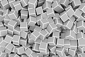 Grey 3d cubes, illustration