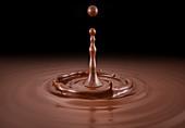 Single liquid chocolate drop splash, illustration