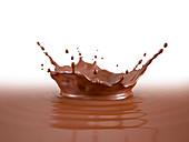 Liquid Chocolate crown splash, illustration