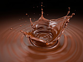 Liquid Chocolate crown splash, illustration