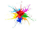 Multicolour paint explosion, illustration