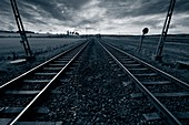 Train track and horizon
