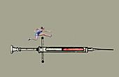 Drugs in sport, conceptual illustration