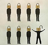 Open-mindedness, conceptual illustration