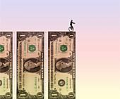 Financial danger, conceptual illustration