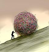 Confusion, conceptual illustration