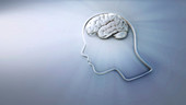 Human intelligence and creativity, conceptual illustration