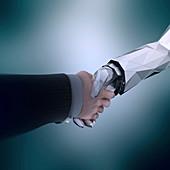 Human and AI cooperation, illustration