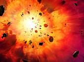 Explosion, illustration