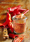 Homemade spice mixture: red paprika salt