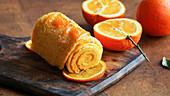 Brazo de naranja (Orange rolled cake portuguese)