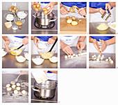 Gnocchi being prepared