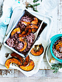 Red Wine, Pumpkin and Rosemary Risotto
