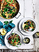 Vegetable and Olive Paella