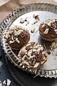 Vegan white chocolate muffins with cashew nuts