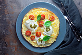 Omelett Caprese
