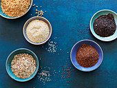 White, red, black, puffed and mixed quinoa