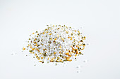 Spice mixture with dried mint, lemon and coarse salt