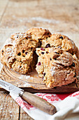 Rosemary and Cranberry soda bread