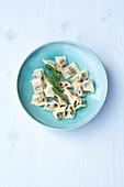 Agnolotti con tartufi bianci – mini ravioli with white truffles