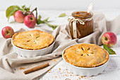 Two apple pies