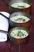Barley soup with wild herbs