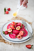 Tortellini with Cherries (Russian Vareniki) with Strawberries