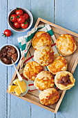 Cheese Scones with chutney