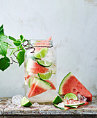 Wassermelonen-Limetten-Wasser