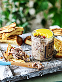 Easy duck and pink peppercorn rillette