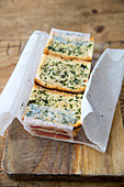 Herb bread for a bread and pepper terrine