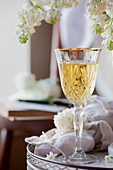 Honey Wine - White Wine with lilac backdrop