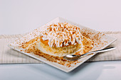 Tres Leches Cake mit Kokosnuss (traditionelles Dessert aus Lateinamerika)