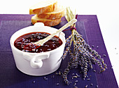 Lavender jelly with creme de cassis, red wine and redcurrant juice