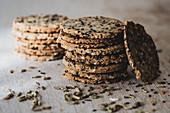 Homemade sesame crackers