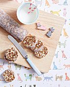 Almond and Coconut Date Log