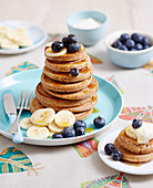 Superfoods For Babies and Toddlers - Toddlers - Breakfast - Blueberry Buckwheat Pancake Stacks