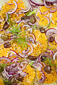 Fennel and orange salad with red onions