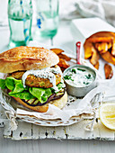Curry Lemon Chicken Burgers