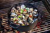 Cozze on a grill