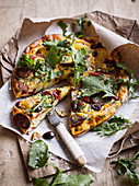 Potato, Olive and Capsicum Frittata