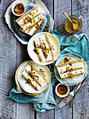 Lime and Passionfruit Frozen Yoghurt Cake
