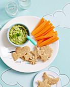 Pea Dip with Quinoa Crackers (9-12 months)