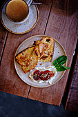 French toast with creme fraiche