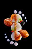 Scallops with sea urchin ice cream