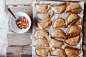 Empanadillas - pie patties with peeper and onion